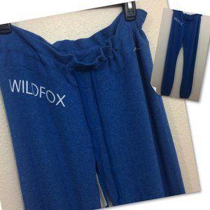 Wildfox Sweatpants Joggers Drawstring Blue NWOT
